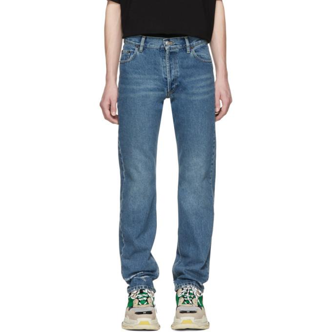 Photo: Balenciaga Blue Destroyed Hem 5 Jeans