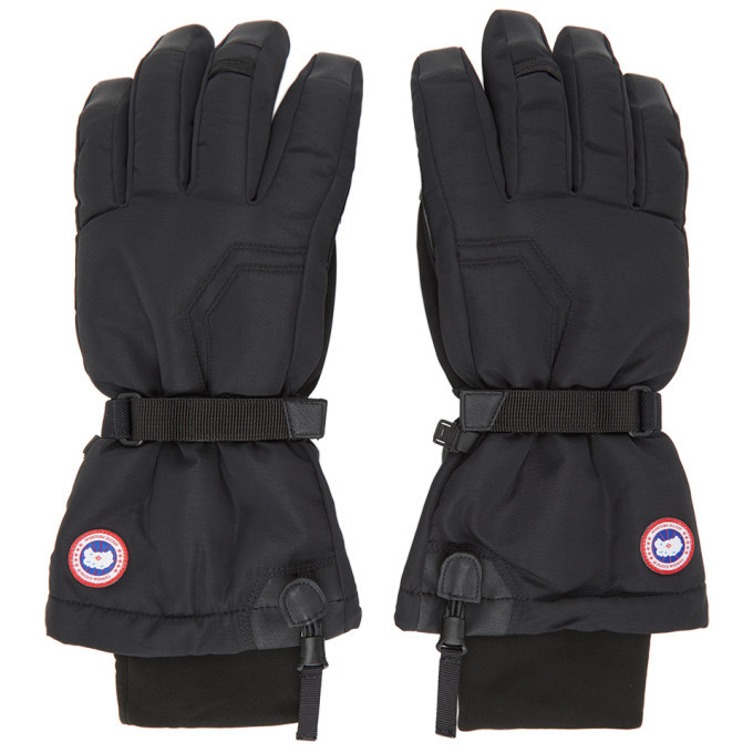 Photo: Canada Goose Black Down Arctic Gloves