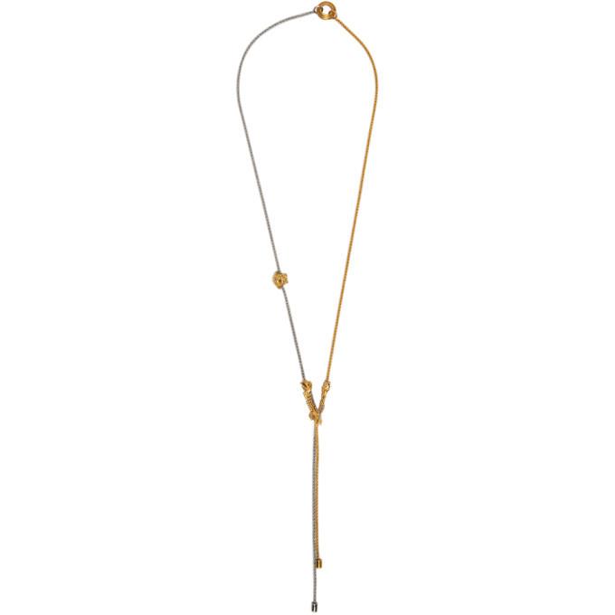 Photo: Versace Gold Bi-Color Necklace
