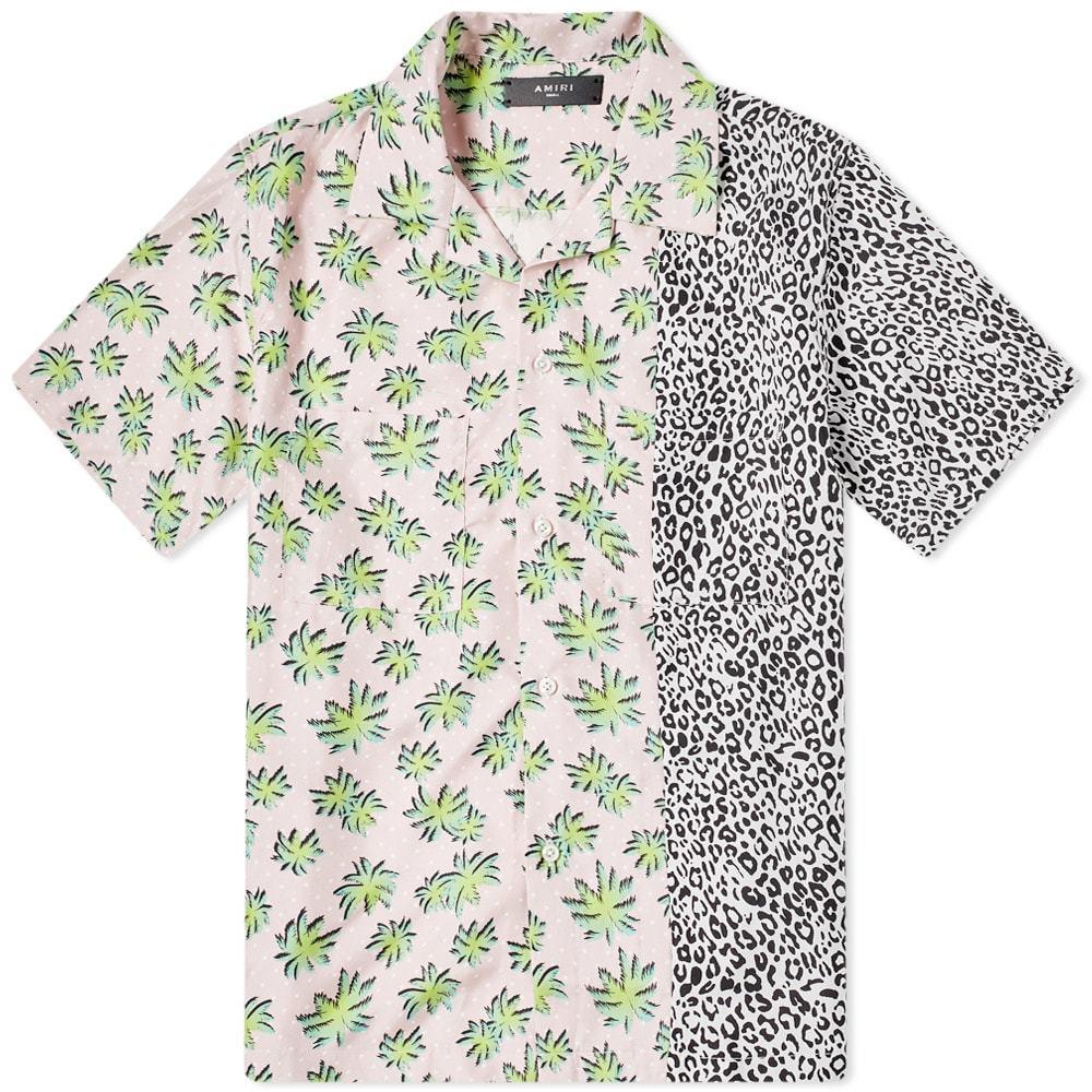 Photo: AMIRI Short Sleeve Split Palm Leopard Shirt