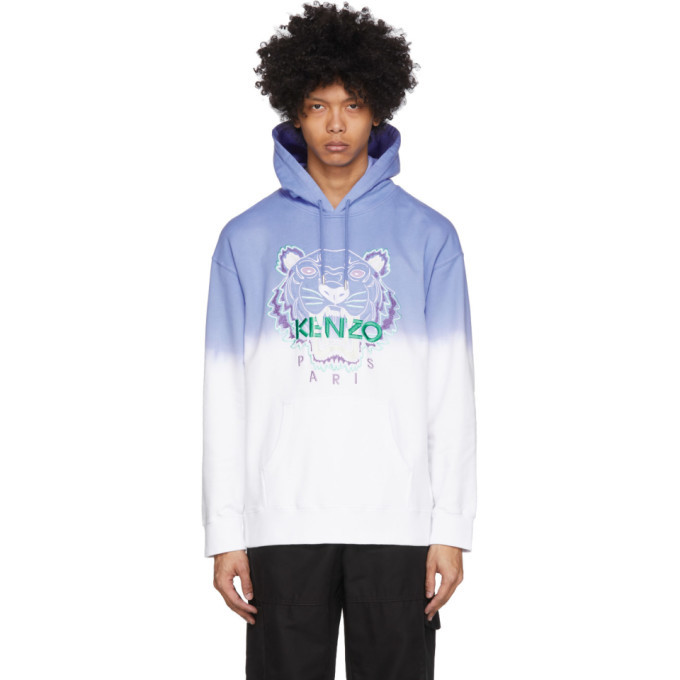 Photo: Kenzo Blue and White Gradient Tiger Hoodie