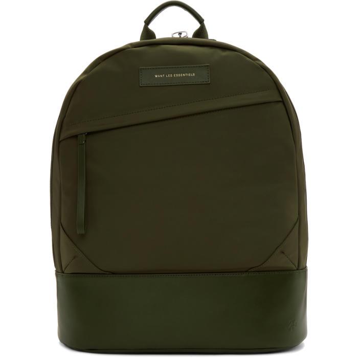 Photo: Want Les Essentiels Green Nylon Kastrup Backpack