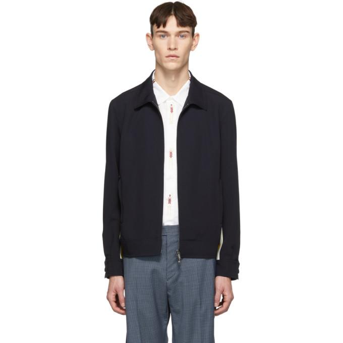 Photo: Valentino Navy Wool Track Jacket