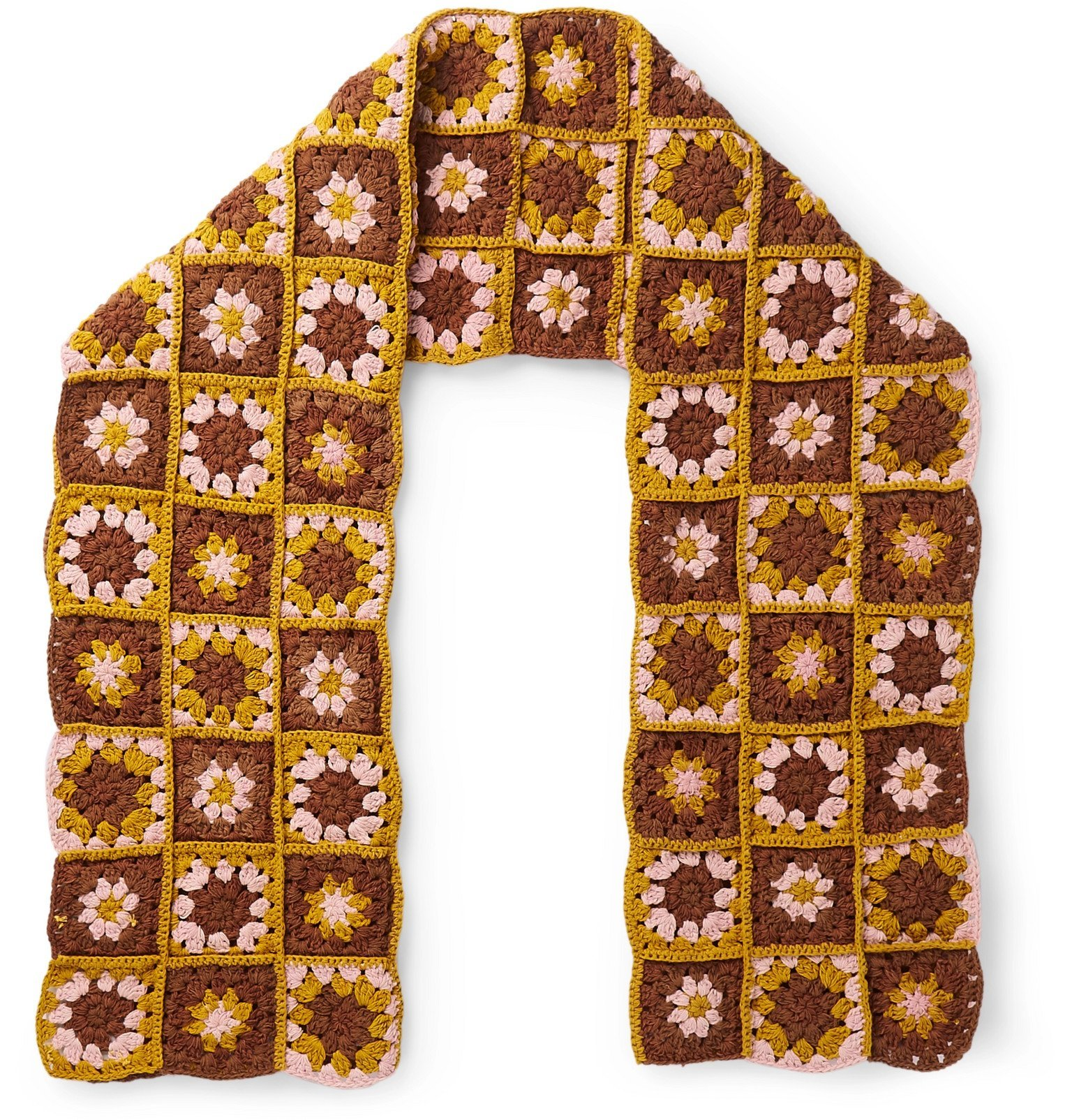 Photo: Story Mfg. - Crocheted Organic Cotton Scarf - Brown