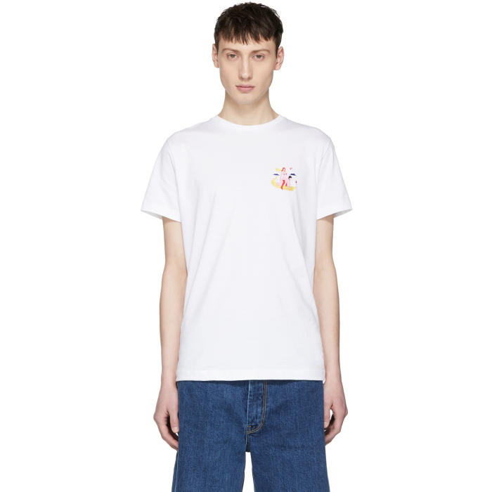 Photo: Carne Bollente White Pied à Traire Embroidered T-Shirt
