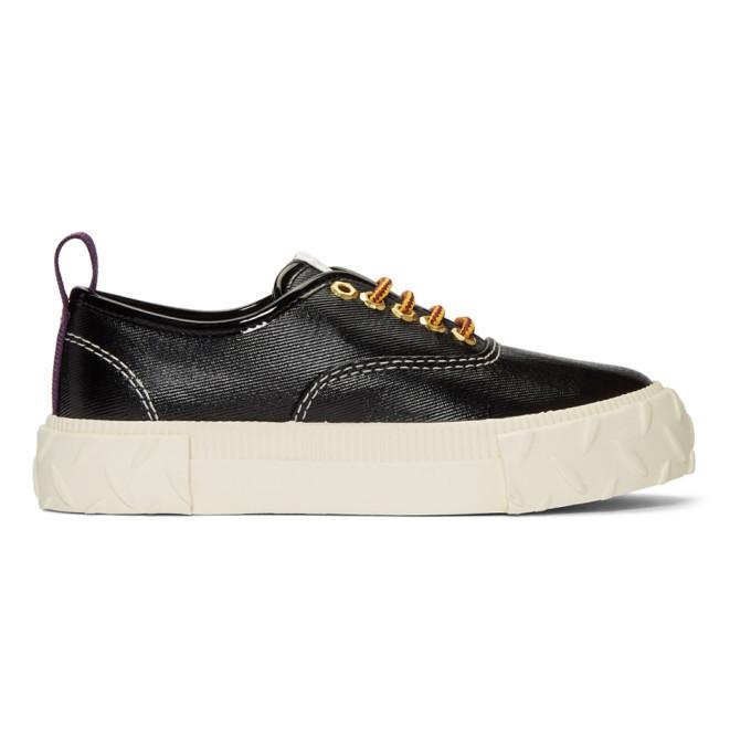 Eytys Black Viper Coated Sneakers Eytys