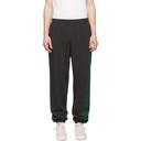 Aries Black and Green Column Lounge Pants