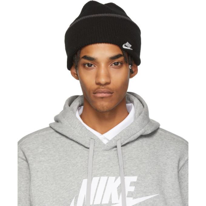 Photo: Nike Black Cuffed Logo Beanie