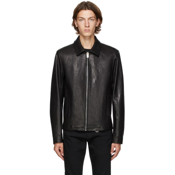 1017 ALYX 9SM Black Leather Leone Jacket