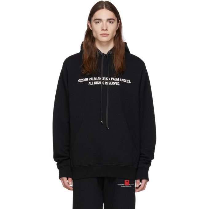 Photo: Palm Angels SSENSE Exclusive Black Palm x Palm Large Hoodie