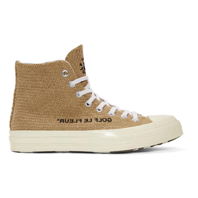 Photo: Converse Beige Golf le Fleur* Chuck 70 High Sneakers