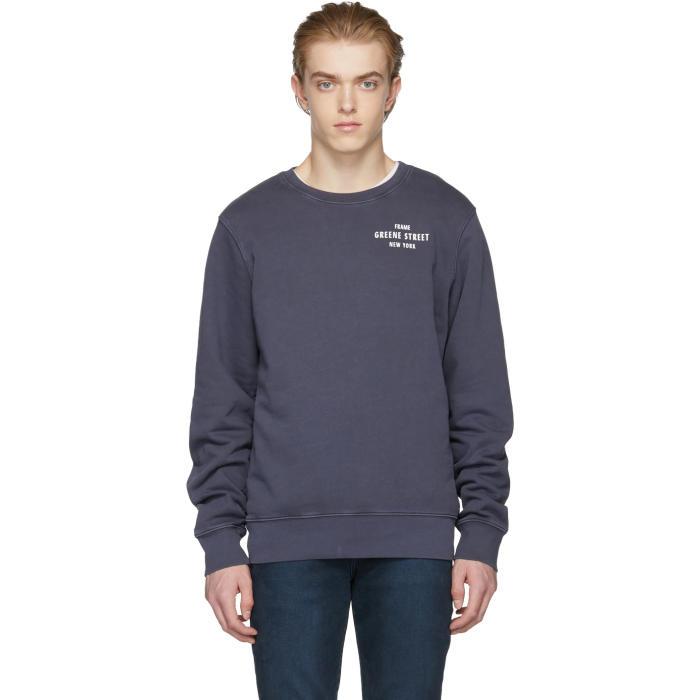 Photo: Frame Denim Navy Vintage Sweater