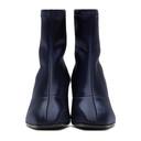 3.1 Phillip Lim Navy Satin Blade Boots
