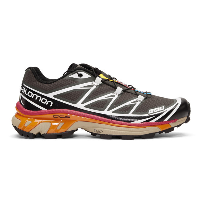 Salomon Grey and Black S-Lab XT-6 Softground Sneakers