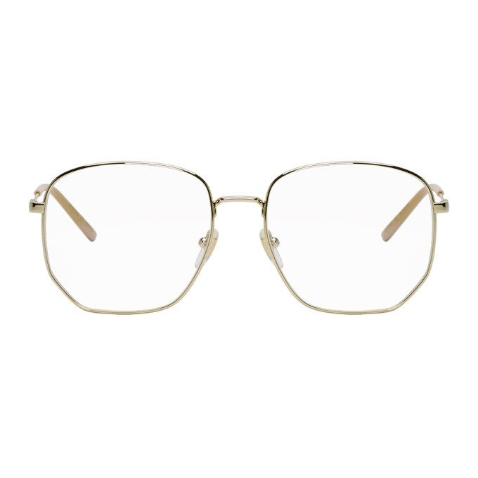 Photo: Gucci Gold and Pink Pilot Glasses