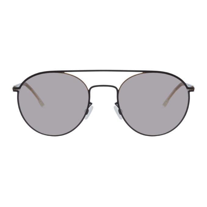 Photo: Mykita Gold and Black Lite Minttu Sunglasses