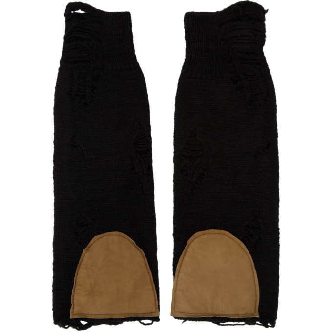 Photo: BED J.W. FORD Black Wool Arm Warmers