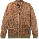 KAPITAL - Reversible Printed Brushed-Fleece and Cotton-Jersey Cardigan - Animal print