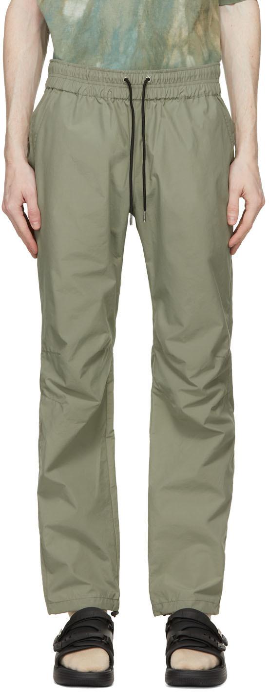 Photo: John Elliott Khaki Taffeta Trousers