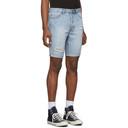 Ksubi Blue Denim Chopper Shorts