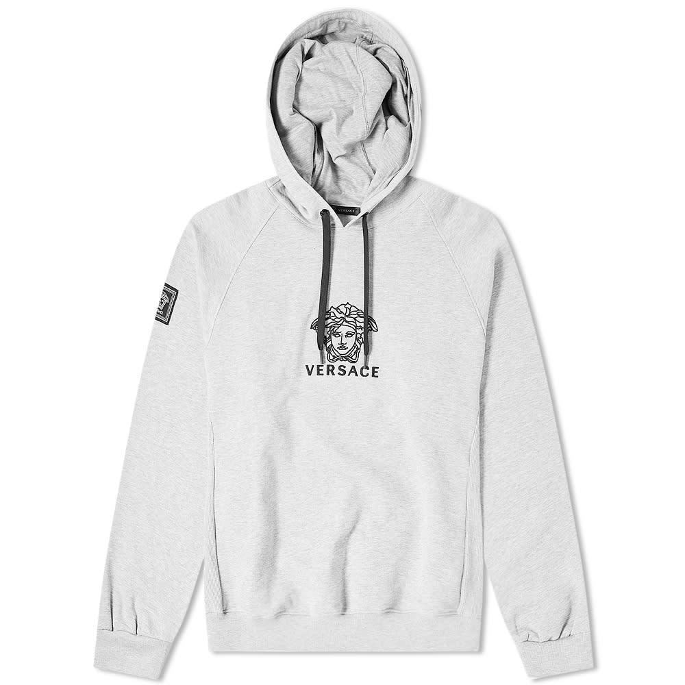 Photo: Versace Logo Embroidered Popover Hoody