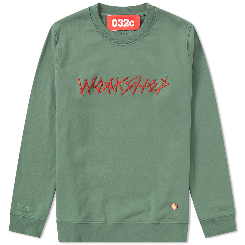 Photo: 032c Printed & Embroidered Crew Sweat Green