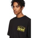 Aries Black Logo Four Squares T-Shirt