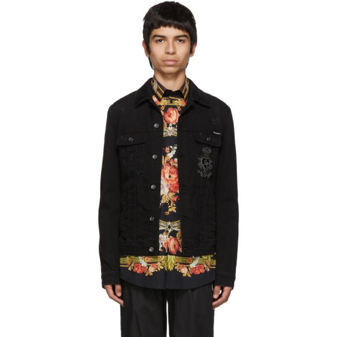 Photo: Dolce and Gabbana Black Denim Jacket
