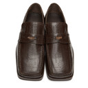 Martine Rose Brown Embossed Roxy Loafers