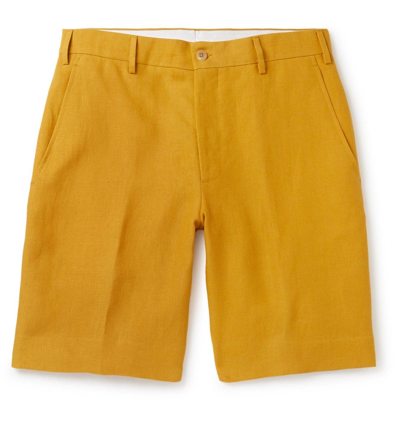 Photo: Anderson & Sheppard - Linen Shorts - Yellow