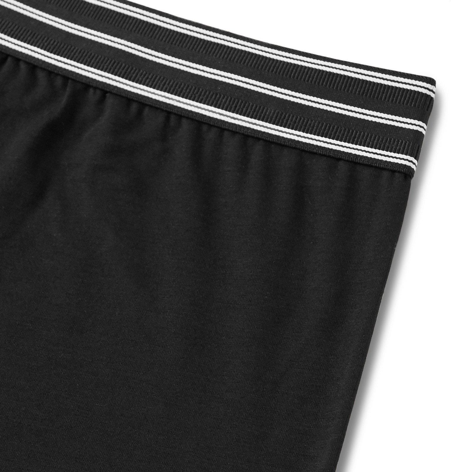 Dolce & Gabbana - Stretch-Cotton Boxer Briefs - Black