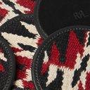 RRL - Set of Six Logo-Embossed Leather and Jacquard Coasters - Black
