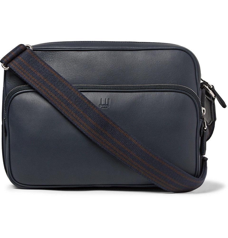 Dunhill - Hampstead City Leather Messenger Bag - Men - Navy