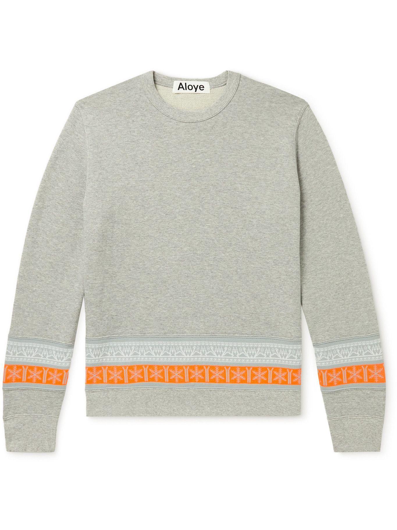 Photo: Aloye - Panelled Stretch-Knit and Cotton-Jersey Sweatshirt - Gray