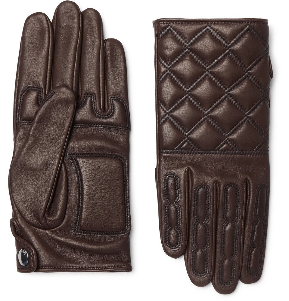 Photo: Berluti - Quilted Leather Gloves - Men - Brown