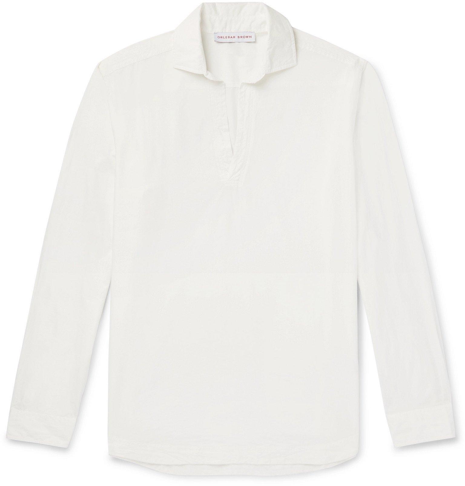 Photo: Orlebar Brown - Ridley Cotton-Poplin Half-Placket Shirt - White
