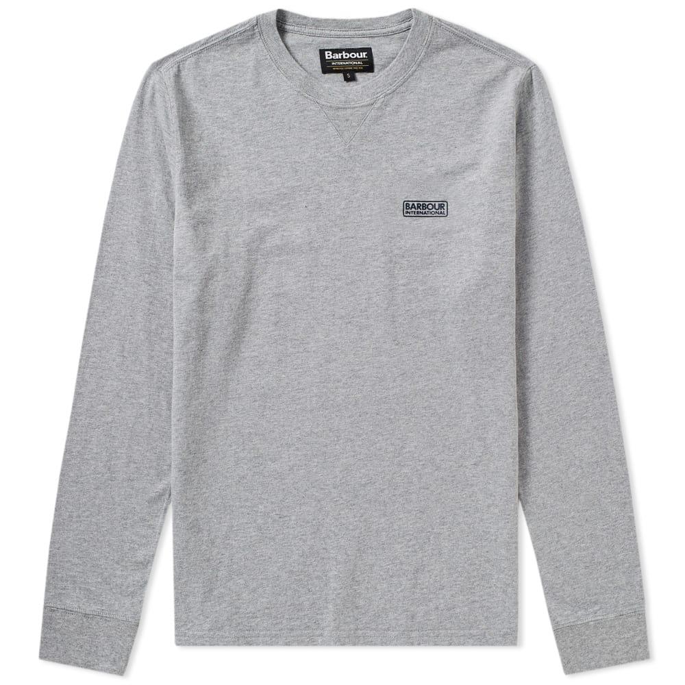 Photo: Barbour International Long Sleeve Logo Tee Grey