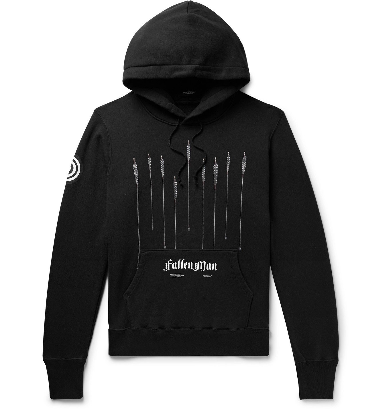 Photo: Undercover - Printed Loopback Cotton-Jersey Hoodie - Black