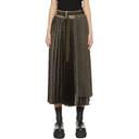 Sacai Brown and Beige Skirt