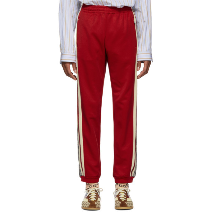 Photo: Gucci Red Oversized GG Lounge Pants
