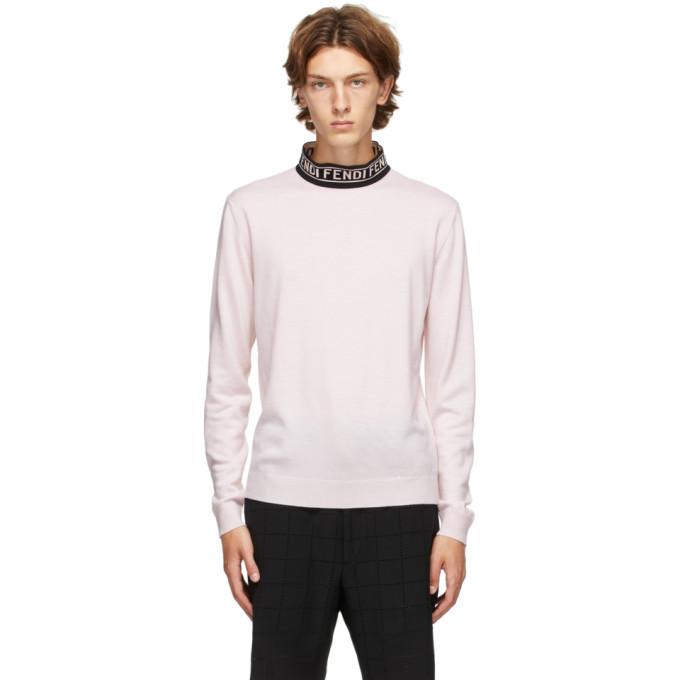 Photo: Fendi Pink Forever Fendi Mock Neck Sweater