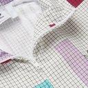 adidas Originals - Colour-Block Checked Shell Jacket - White