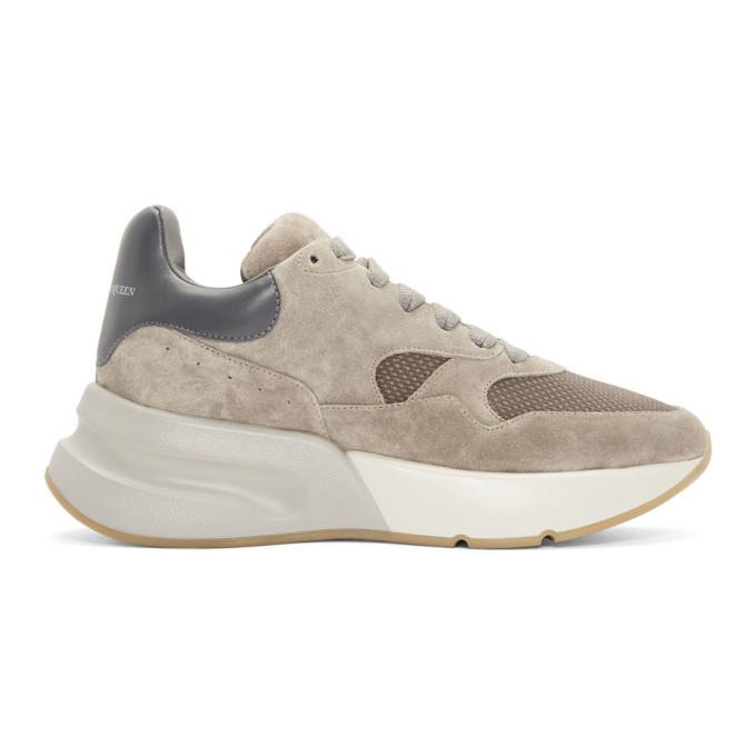 Photo: Alexander McQueen Beige Suede Platform Sneakers