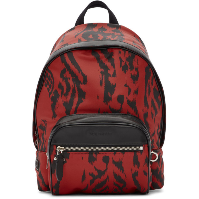 Photo: Neil Barrett Black and Red Chaotic Print Backpack