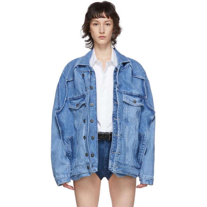 Photo: Y/Project SSENSE Exclusive Blue Denim Pop-Up Jacket