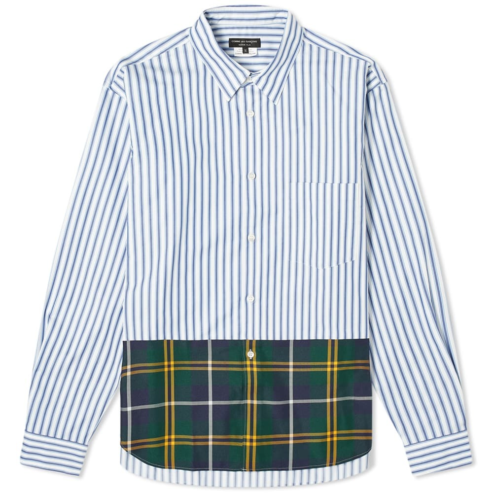 Photo: Comme des Garcons Homme Plus Tartan Check Stripe Shirt