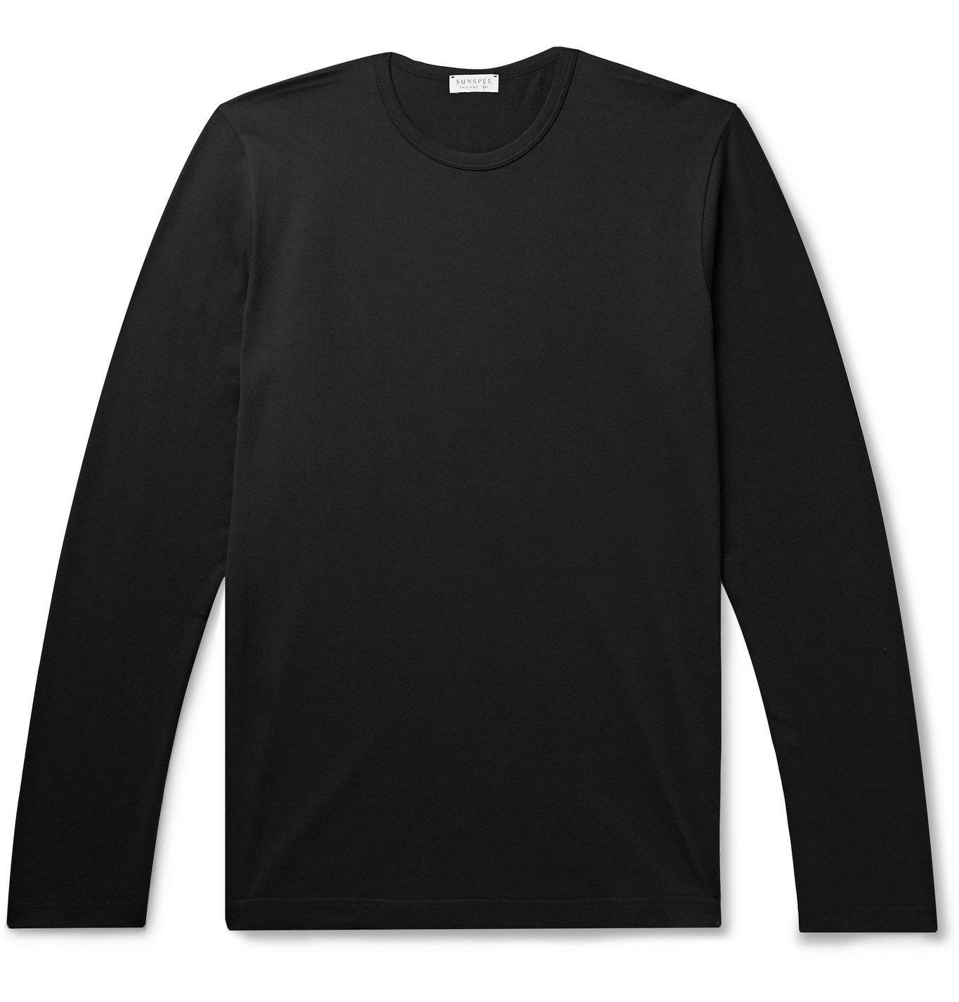 Photo: Sunspel - Cotton-Jersey T-Shirt - Black