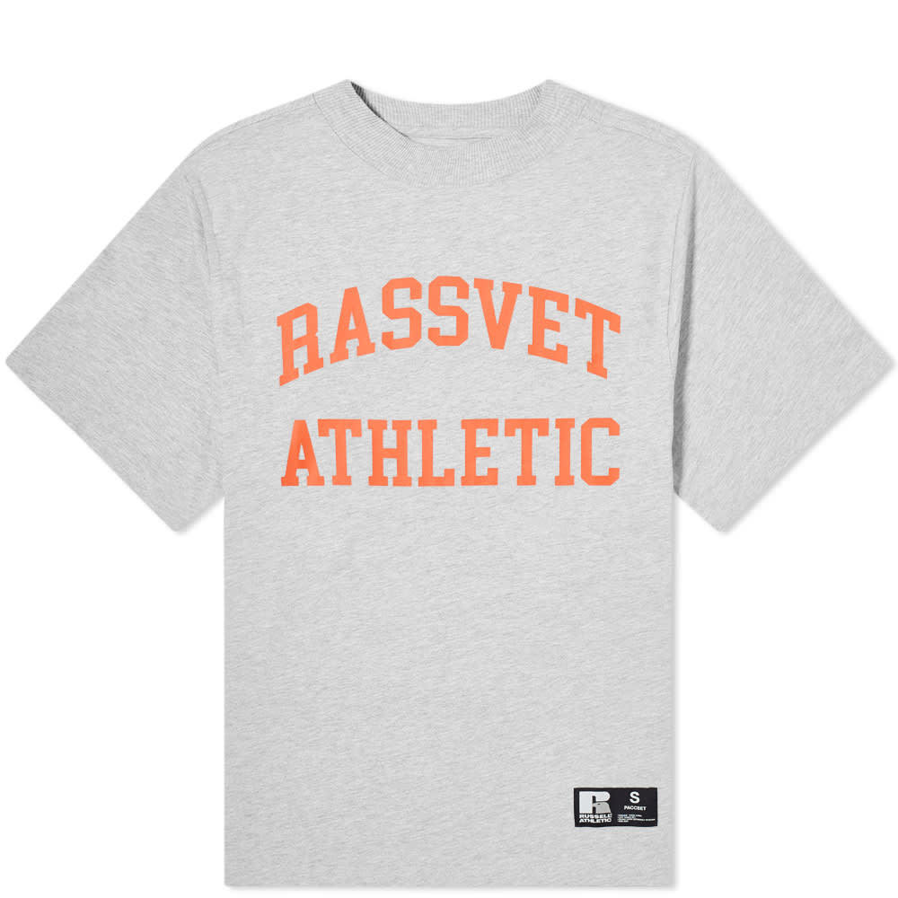 Photo: PACCBET x Russell Athletic Tee Grey
