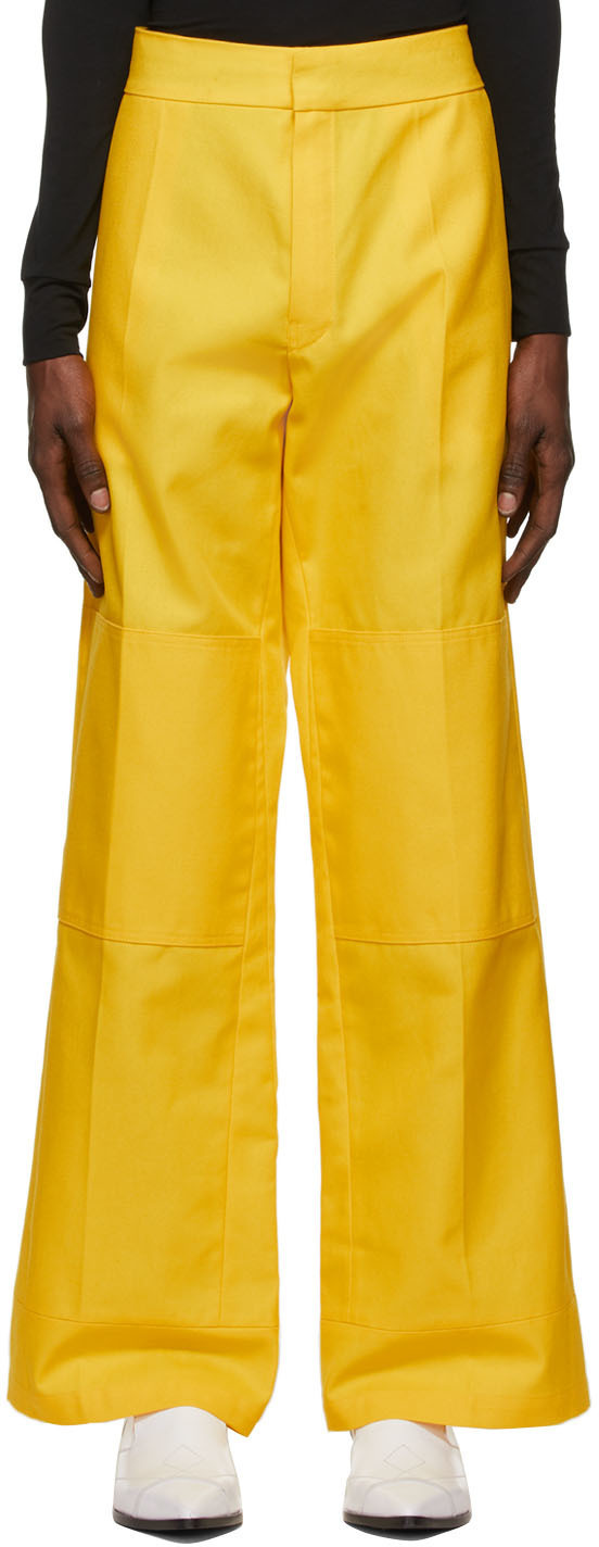 Photo: Raf Simons Yellow Workwear Kneepatches Trousers