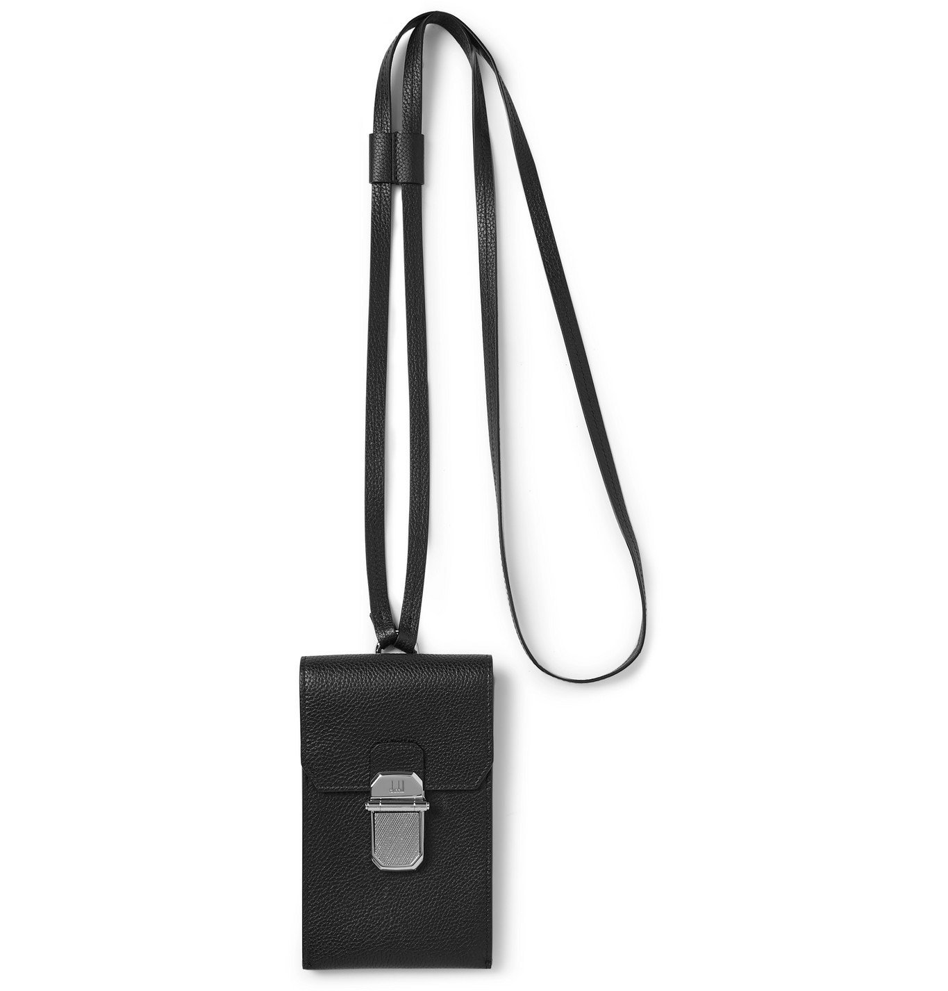 Dunhill - Full-Grain Leather Cardholder with Lanyard - Black